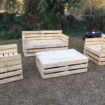 Wooden couches